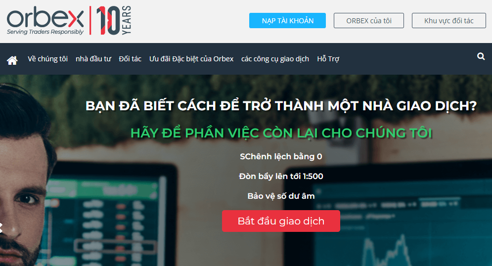 Sàn OrBex là sàn giao dịch forex uy tín nhung không phổ biến tại Việt Nam