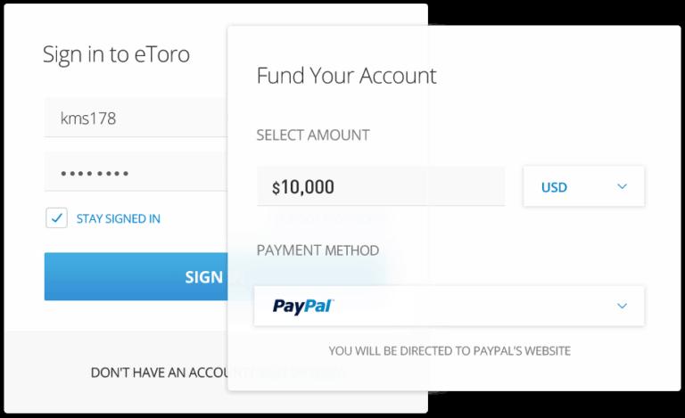 Hướng dẫn nạp tiền tài khoản eToro