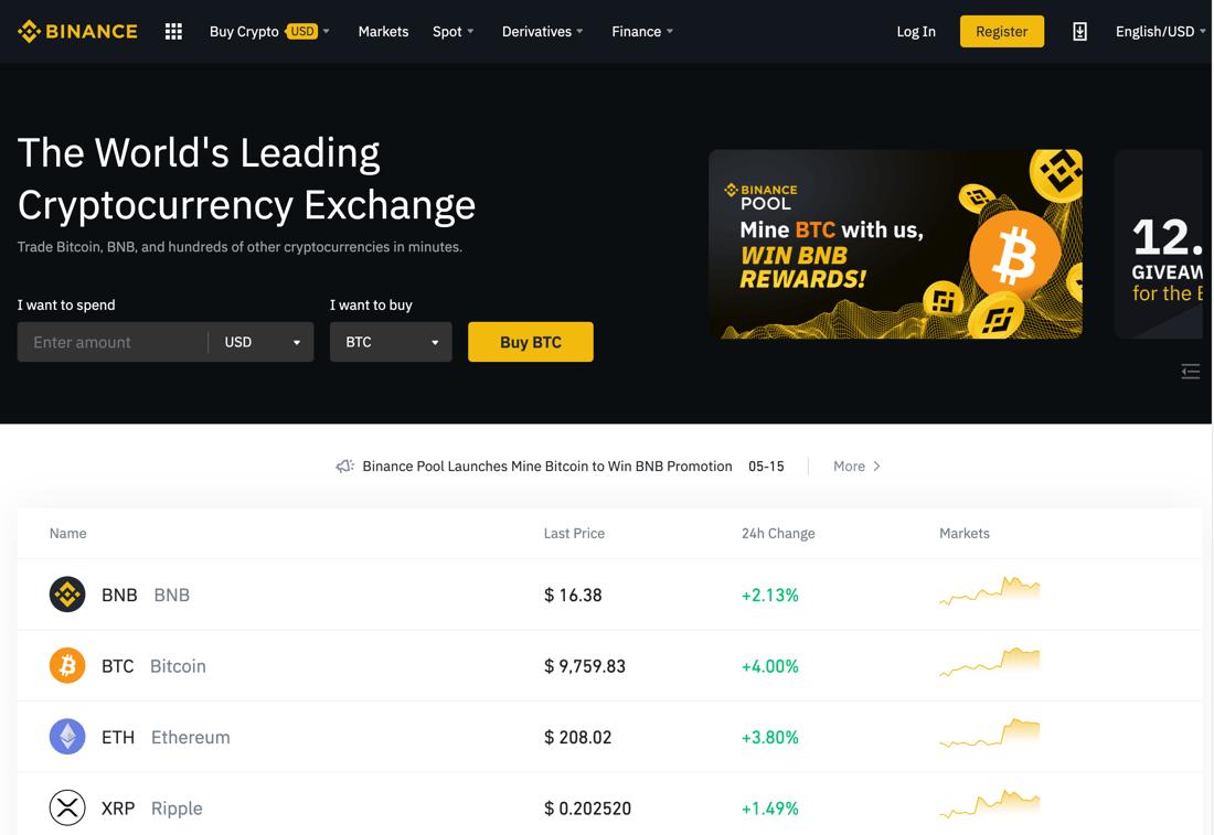 Sàn giao dịch mua bán Bitcoin Binance được đánh giá tổng thể tốt nhất