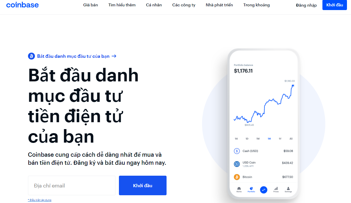 Sàn giao dịch mua bán Bitcoin-Coinbase