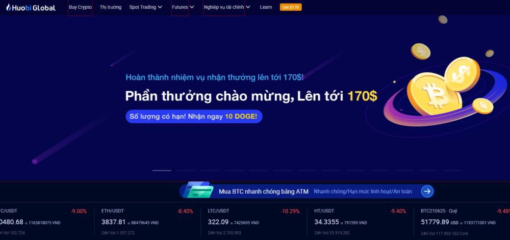 Sàn giao dịch Bitcoin -Huobi