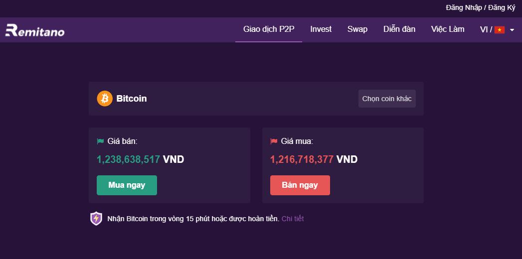 Sàn giao dịch bitcoin Remitano