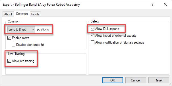 Lựa chọn cặp tiền cho robot forex