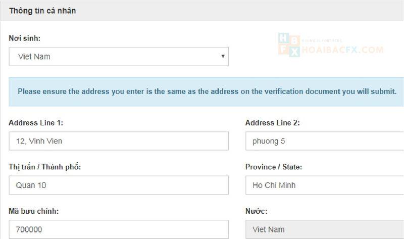 đăng ký tài khoản Hotforex - bước 6