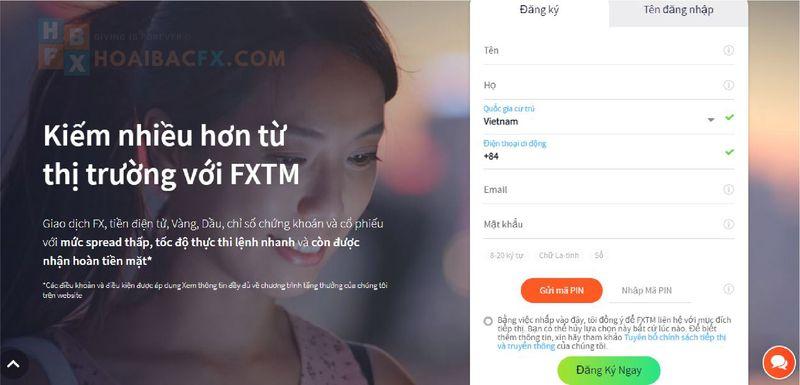 cách đăng ký tài khoản FXTM-bước 03