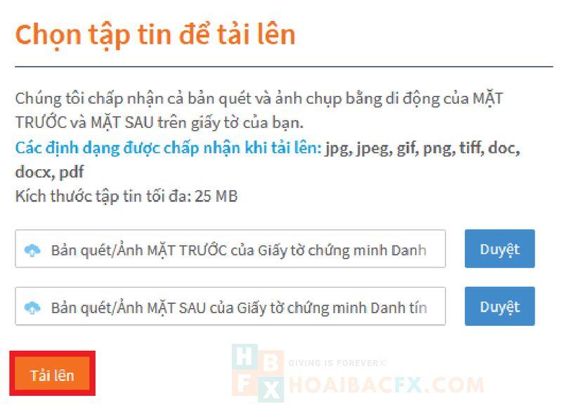 tải hồ sơ xác minh tài khoản fxtm
