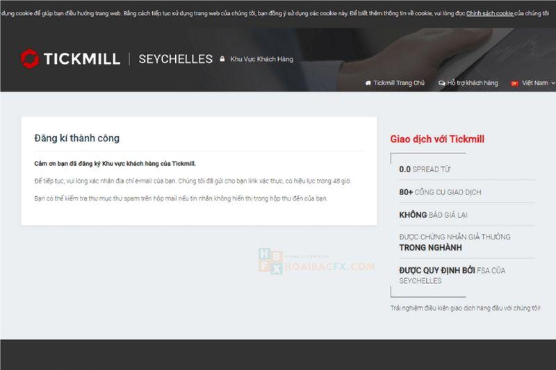 đăng ký tài khoản Tickmill - bước 3