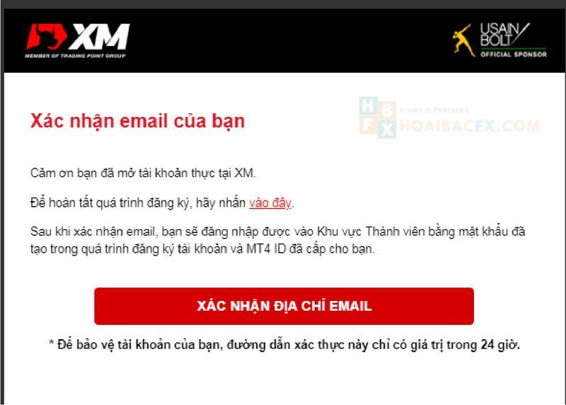 cách đăng ký tài khoản XM - bước 4